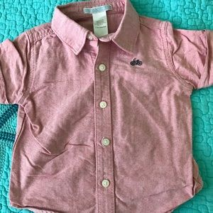 Boys chambray Janie and Jack shirt 3-6 months